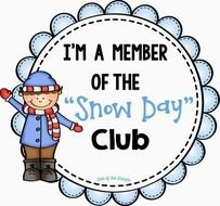 clipart of the snow day