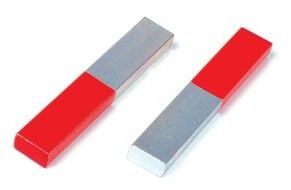 two red-gray magnets