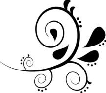 Black And White Swirl Clip Art N4