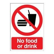 No Food Drink Sign drawing