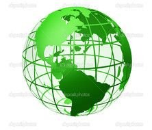 Clipart of green Globe
