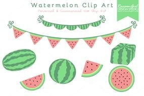 clipart for watermelon party