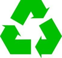 Recycle Paper Symbol Clip Art drawing