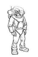 Space Suit Drawing
