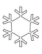 Black and white drawing of a snowflake clipart