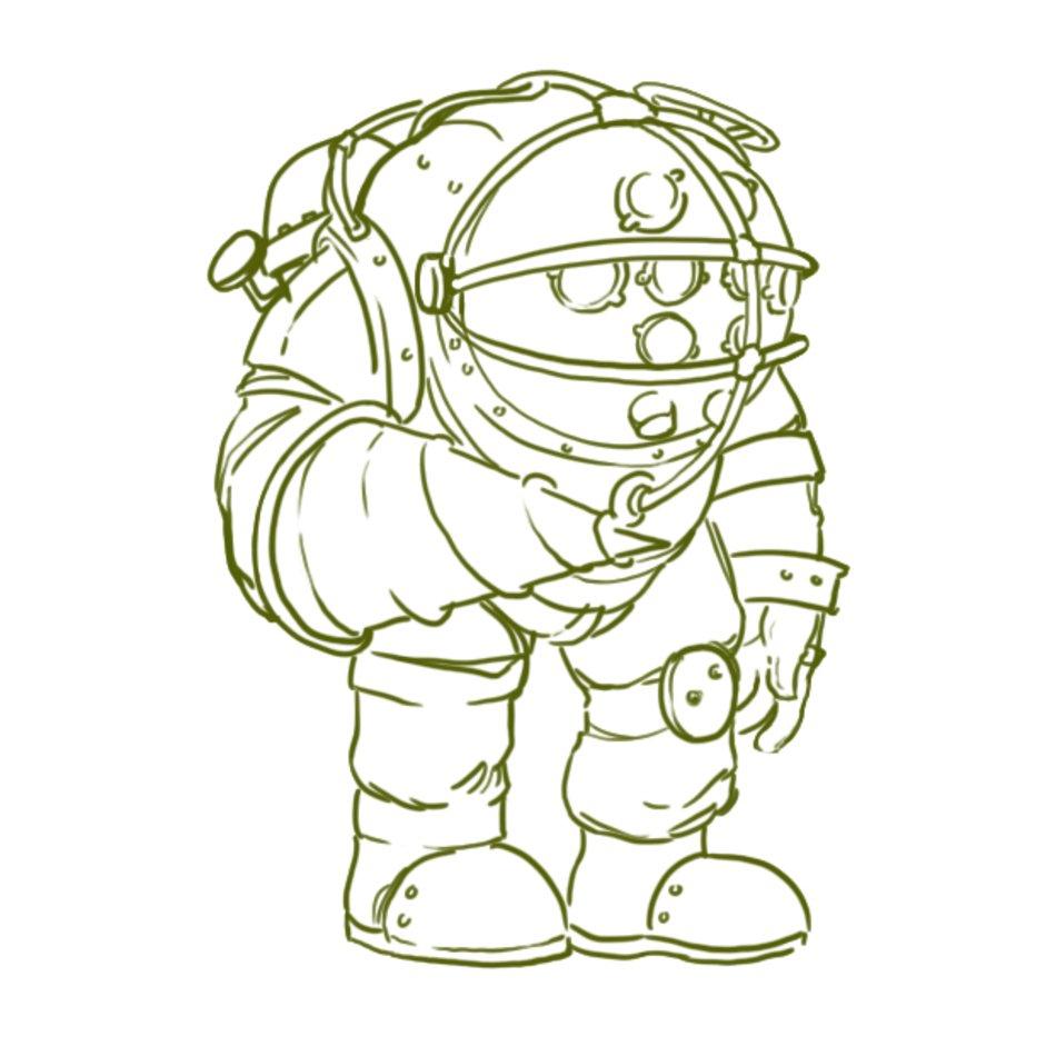 Bioshock Big Daddy Drawings N2 Free Image