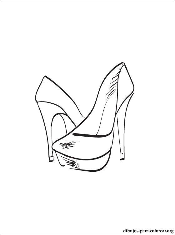 Colorear Dibujo De Zapatos Para Mujer Gratis En Nuestro Sitio Web ...
