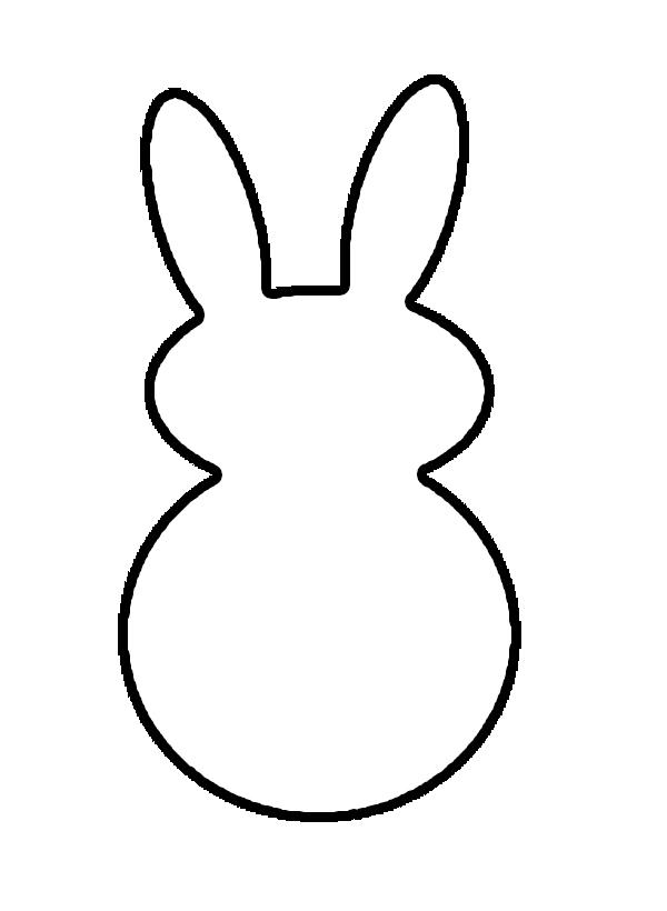 Easter Bunny Outline Clip Art