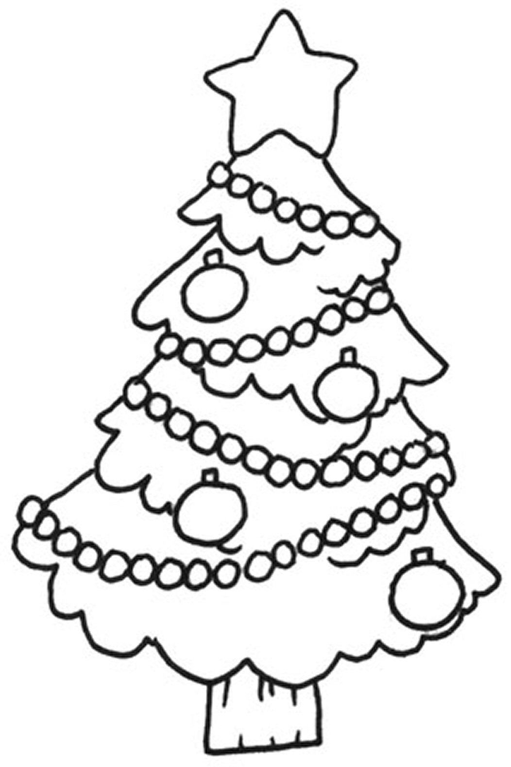 Christmas Coloring Pages Print drawing free image download