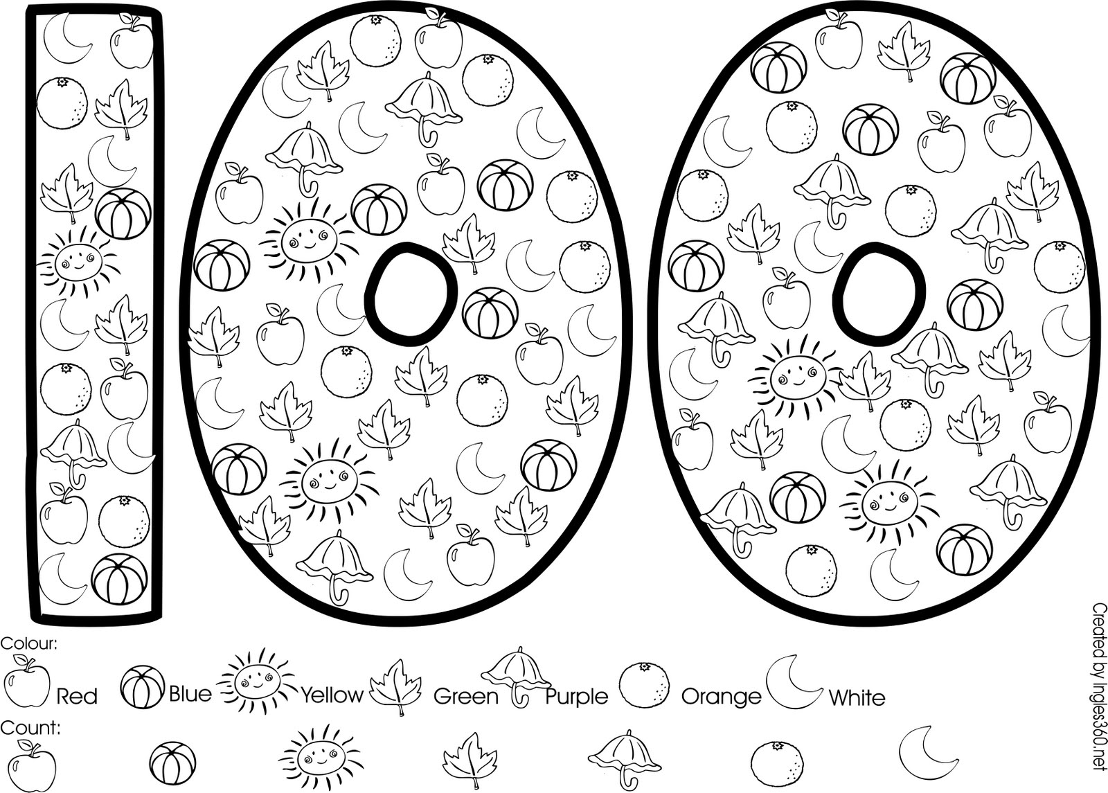 100 Days School Coloring Pages Free Image