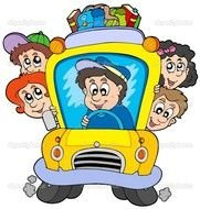 Cartoon school bus clipart