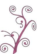 Rose Swirl Clip Art drawing