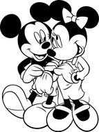 Mickey Mouse Coloring Page Printable drawing