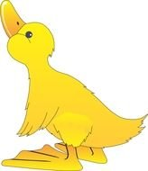 Yellow standing duck clipart