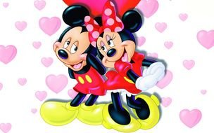Mickey And Minnie Mouse Love drawing