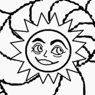 Moon And Stars Coloring Pages drawing