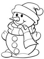 Clip art of Snowman Coloring Page