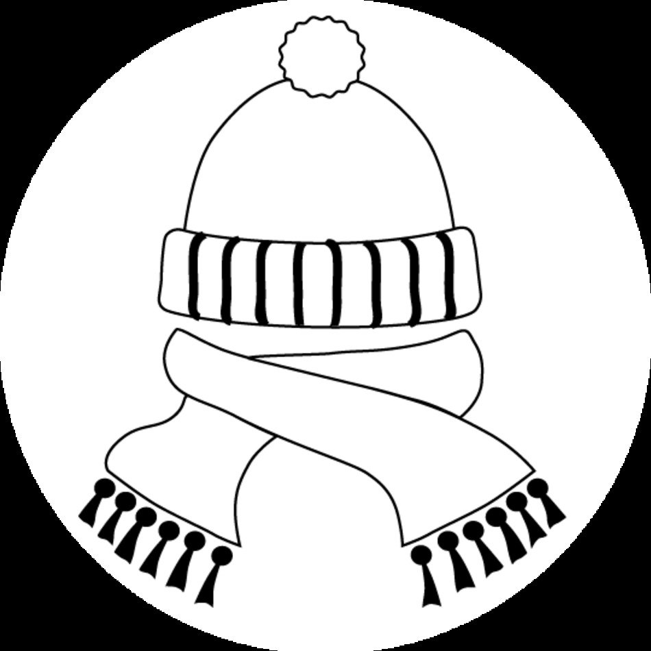 Winter Scarf And Hat Coloring Page free image download