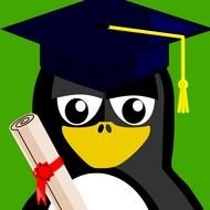 Pinguin on graduation clipart