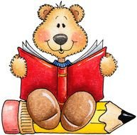 Bear Reading Clip Art N4