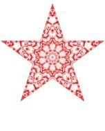isolated Christmas star