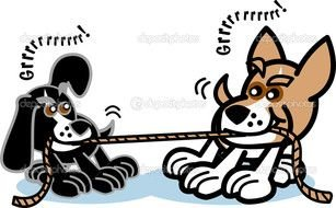 Dogs are playing clipart