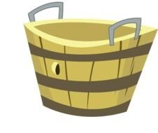 Empty Apple Basket drawing