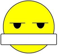 Bored Smiley Face Clip Art N10
