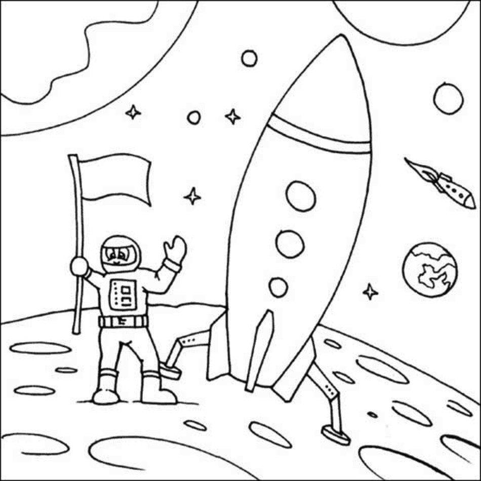Rocket Ship Coloring Page | Coloringnori - Coloring Pages ...