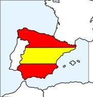Spain Map And Flag By Mireille drawing