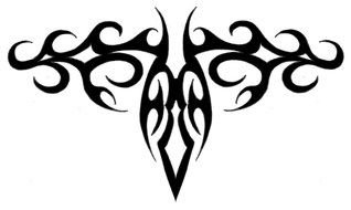 Black Filigree Tattoo Drawing Free Image,Simple Corner Border Designs For Projects