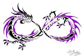 Infinity Dragon Tattoo drawing