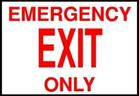 Clipart of Emergency Exit Sign
