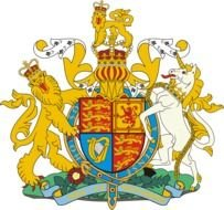 United Kingdom Coat Of Arms as a graphic illustration