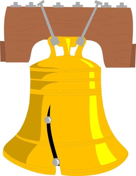 drawn gold bell