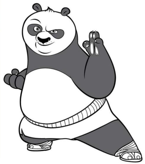 Kung Fu Panda Para Dibujar Colorear Imprimir Recortar Y Pegar free image