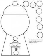 image about Gumball Machine Printable titled Printable Gumball System Template N2 no cost graphic