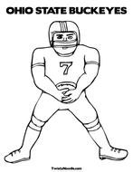 drawing of an american football player on a white background