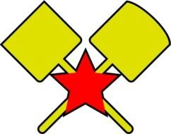 Snow Removal Troops Emblem with red star and yellow Shovels