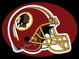 helmet with the logo of the team Washington Redskins