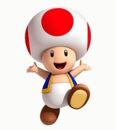Clipart of Toad Mario character