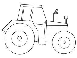 Tractor in graphic representation