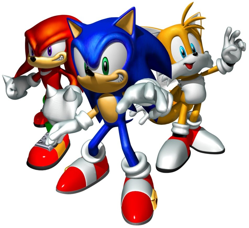 Team Sonic Tails Knuckles drawing