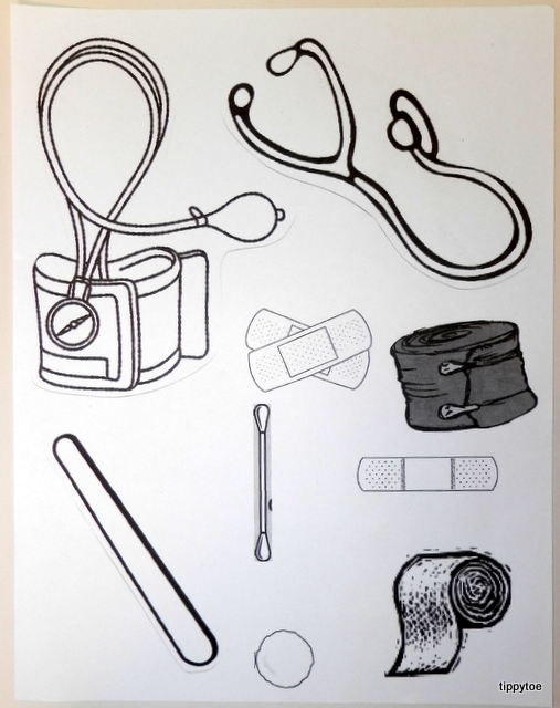 Doctor Kit Coloring Page