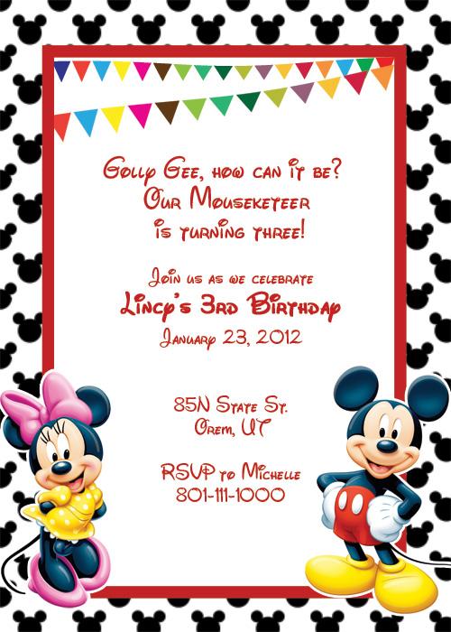 image regarding Printable Mickey Mouse Invitations known as Printable Mickey Mouse Invitation Template totally free impression