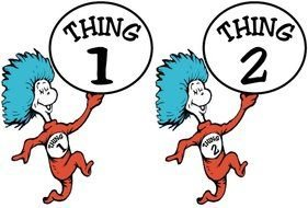 Dr Seuss Thing 1 And 2 drawing