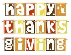 Happy Thanksgiving text Clip Art drawing