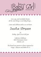 invitation for girl baby shower