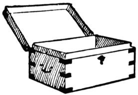 chest as a graphic illustration
