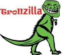 green trollzilla as a graphic image